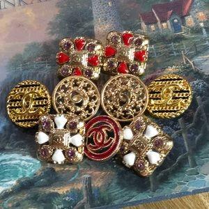 23 mm vintage Chanel button earring 9pcs